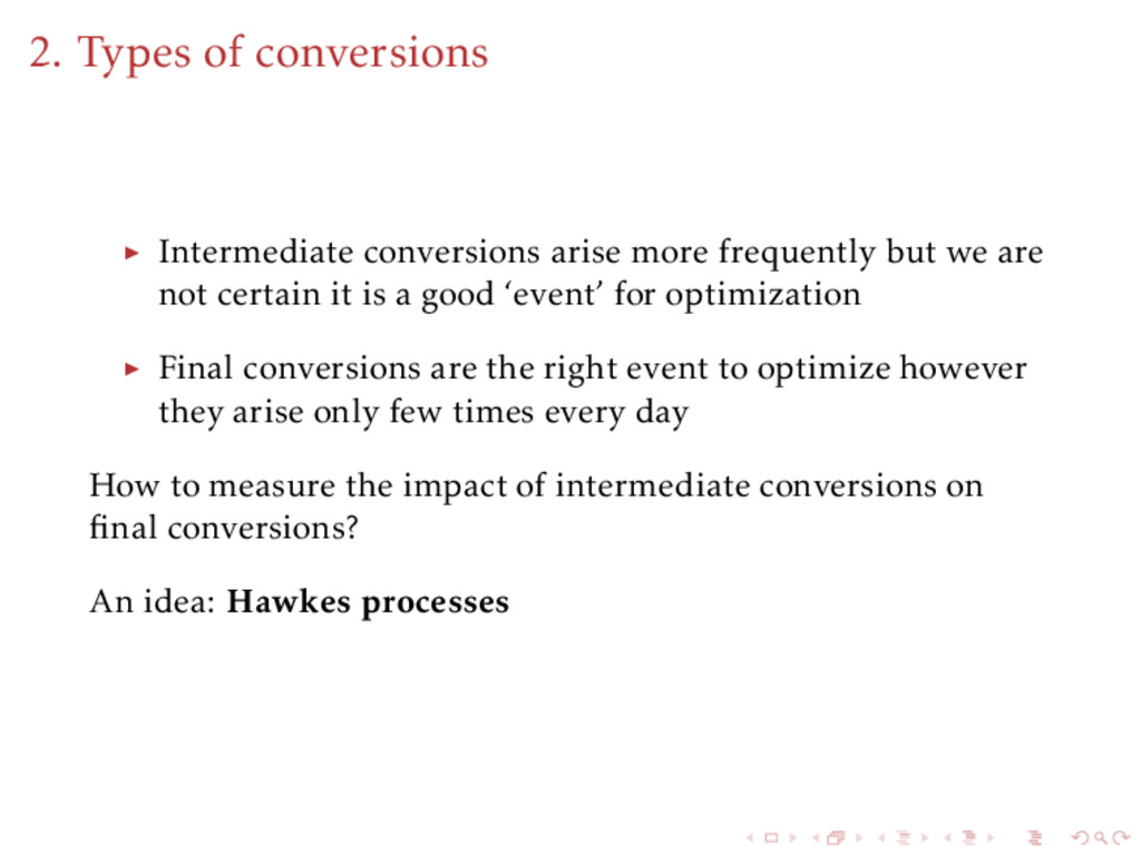 2. Types of conversions Intermediate conversion...