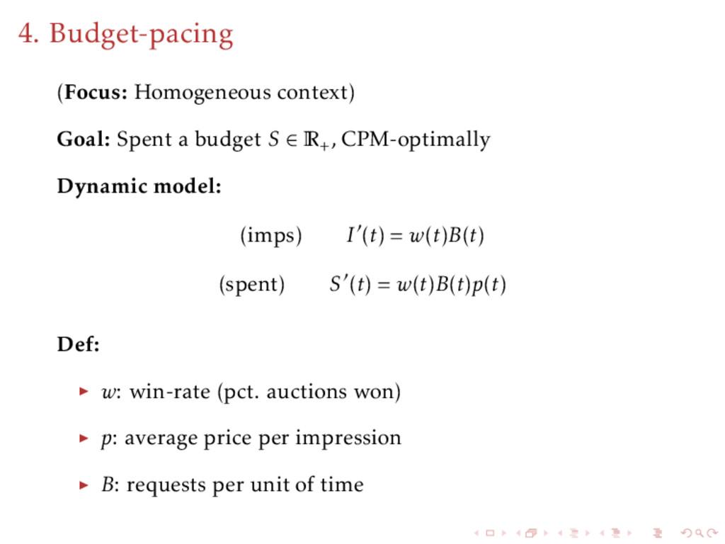 4. Budget-pacing (Focus: Homogeneous context) G...