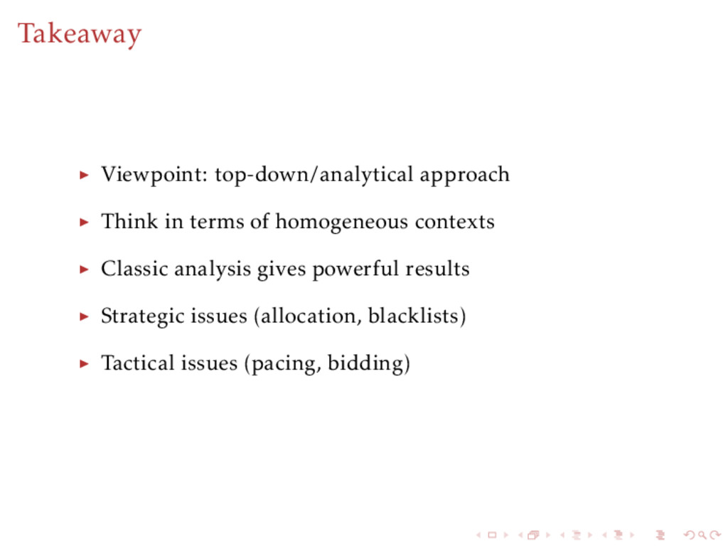 Takeaway Viewpoint: top-down/analytical approac...