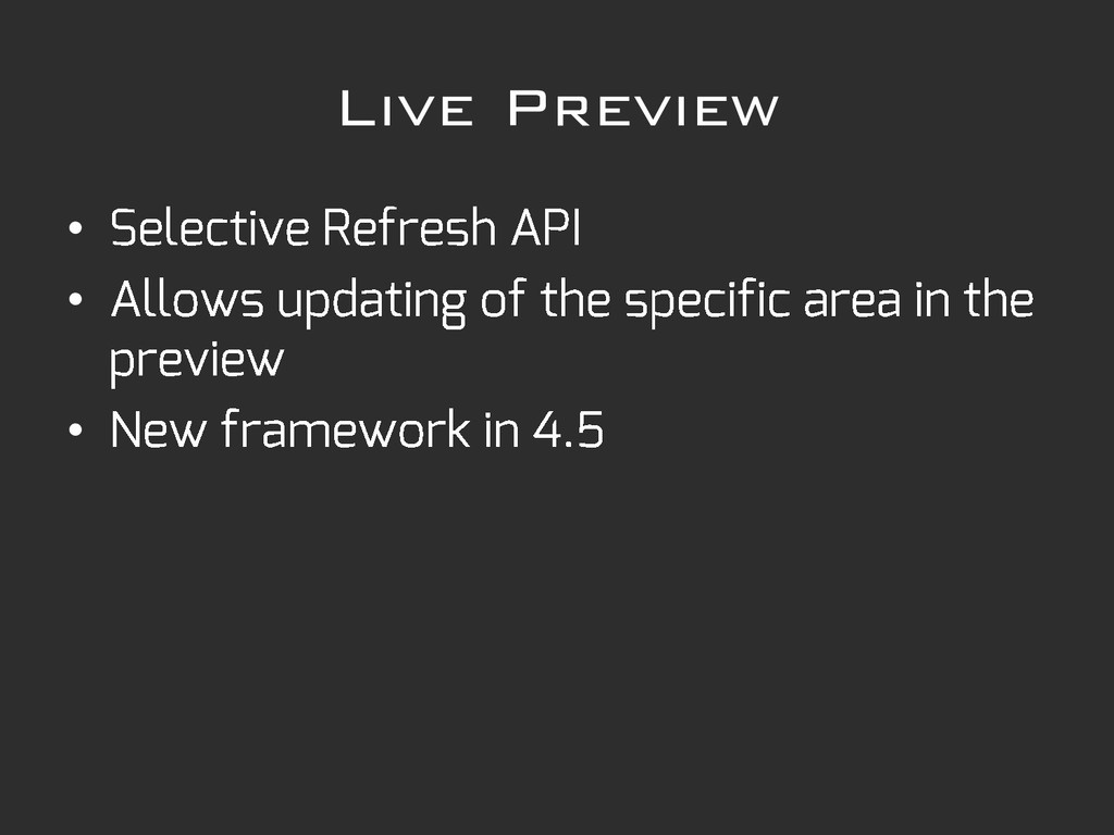Live Preview • • •