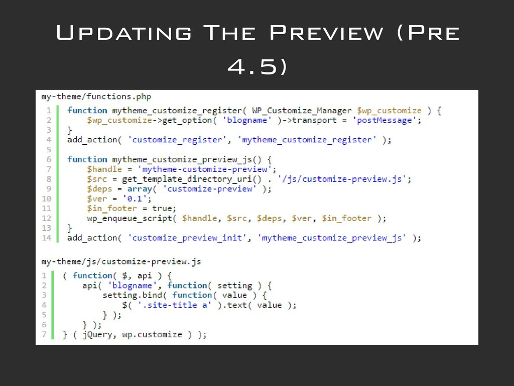 Updating The Preview (Pre 4.5)