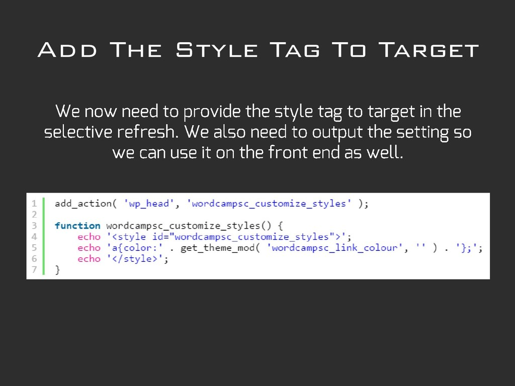 Add The Style Tag To Target