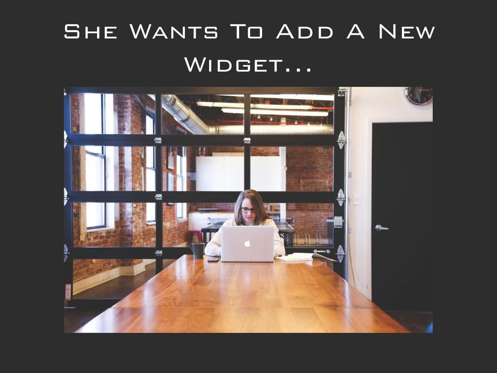 She Wants To Add A New Widget...