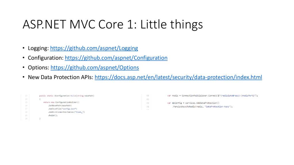 ASP.NET MVC Core 1: Little things • Logging: ht...
