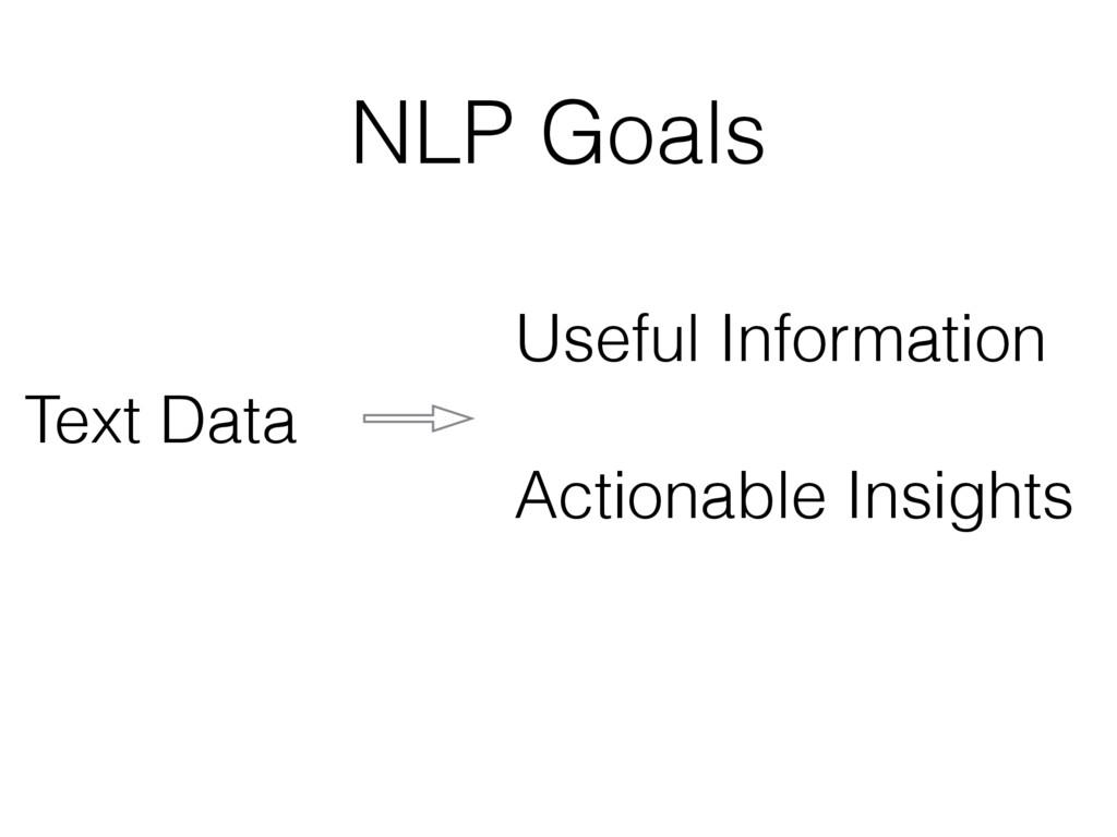 NLP Goals Text Data Useful Information Actionab...