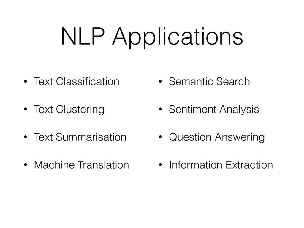 NLP Applications • Text Classification • Text Cl...