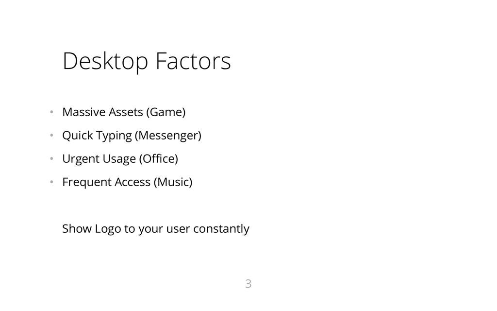Desktop Factors • Massive Assets (Game) • Qui...