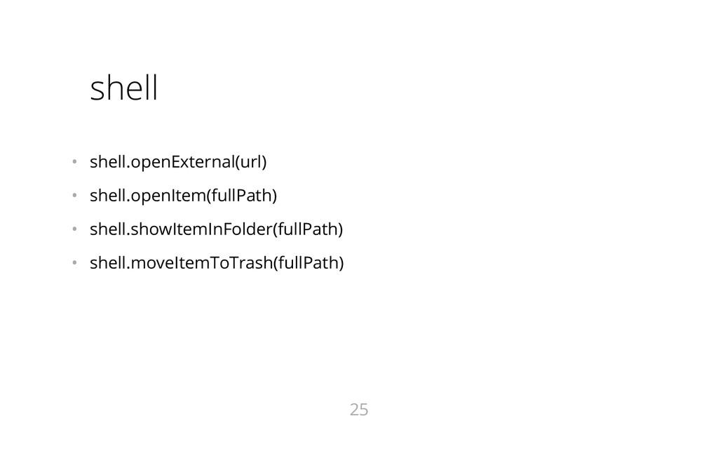 shell • shell.openExternal(url) • shell.openI...