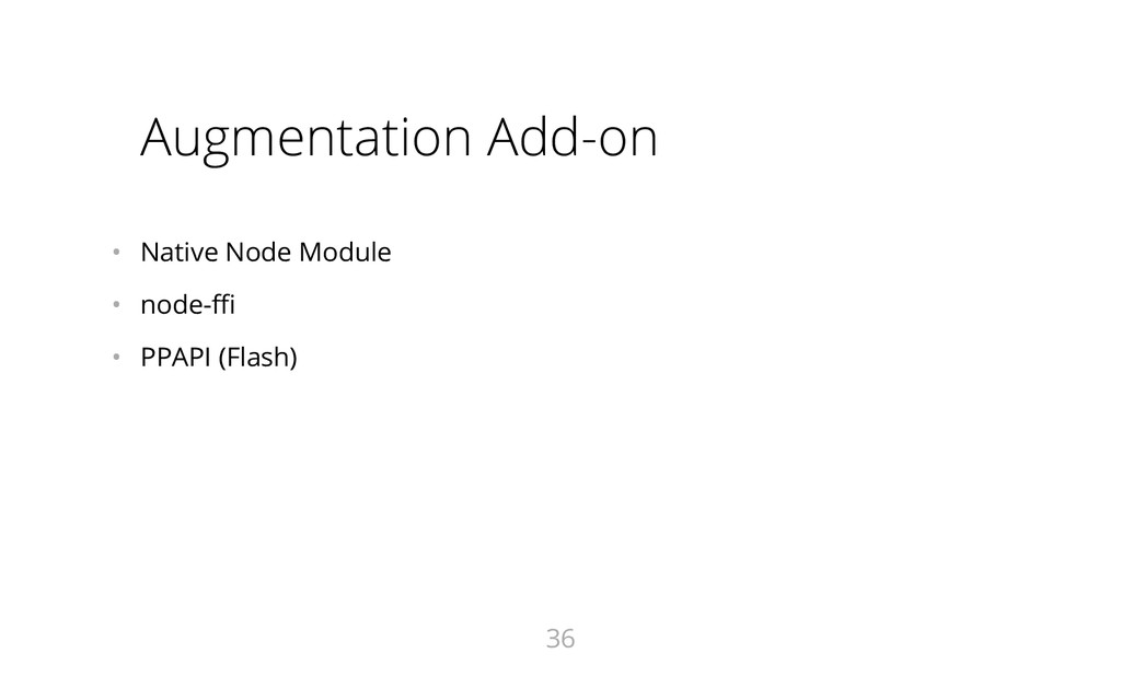 Augmentation Add-on • Native Node Module • no...