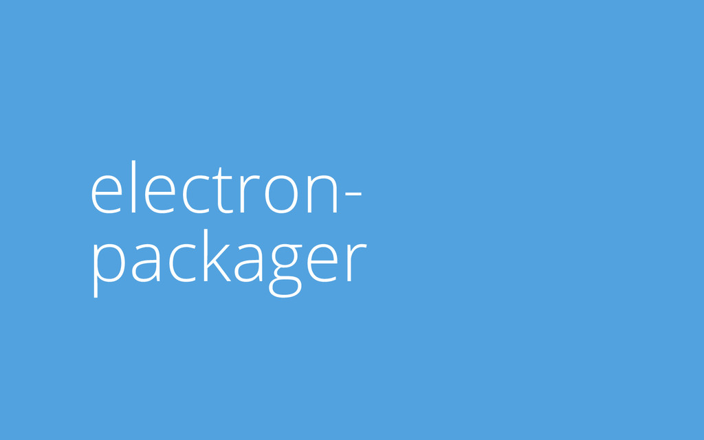 electron- packager