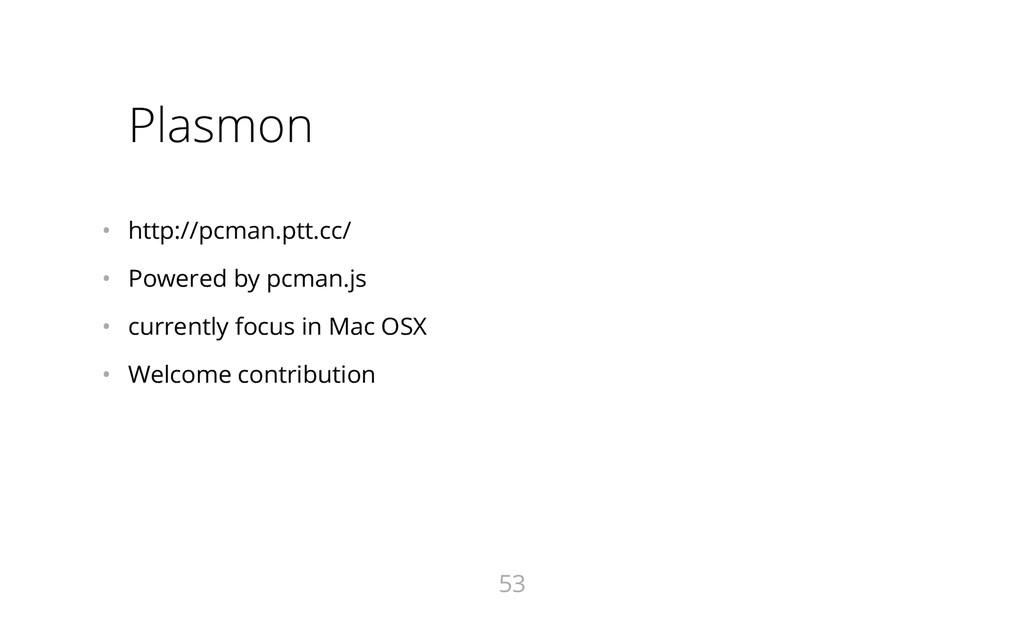 Plasmon • http://pcman.ptt.cc/ • Powered by p...