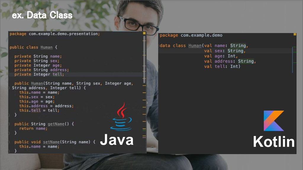 Java Kotlin ex. Data Class