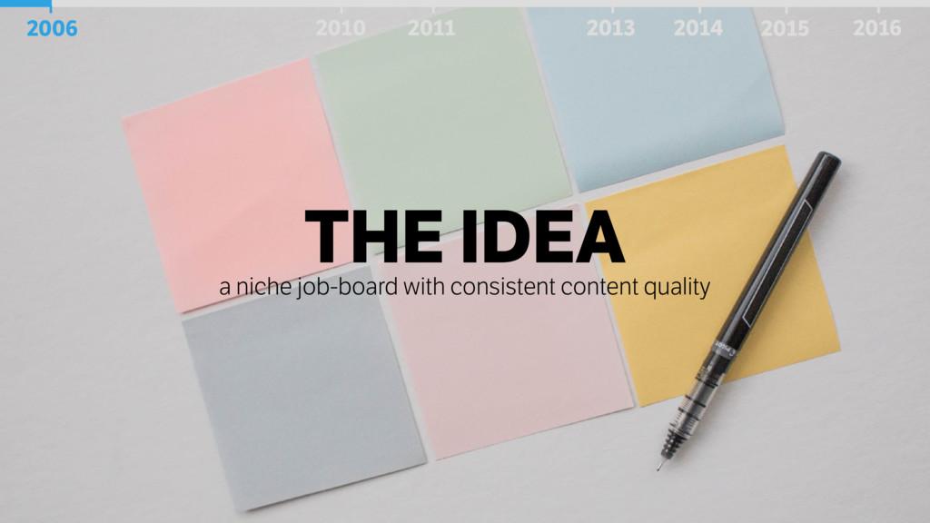 THE IDEA a niche job-board with consistent cont...