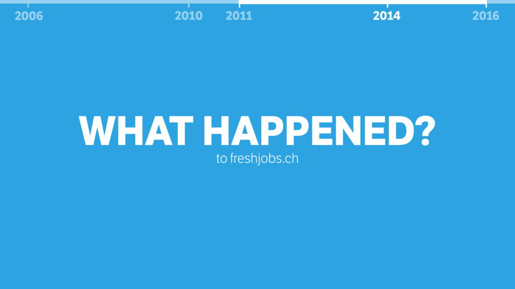WHAT HAPPENED? to freshjobs.ch 2006 2010 2011 2...