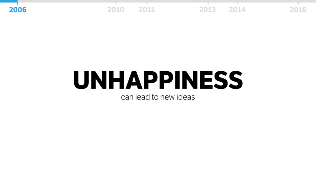 UNHAPPINESS can lead to new ideas 2006 2010 201...