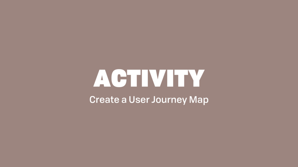 Create a User Journey Map