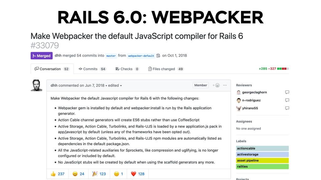 RAILS 6.0: WEBPACKER