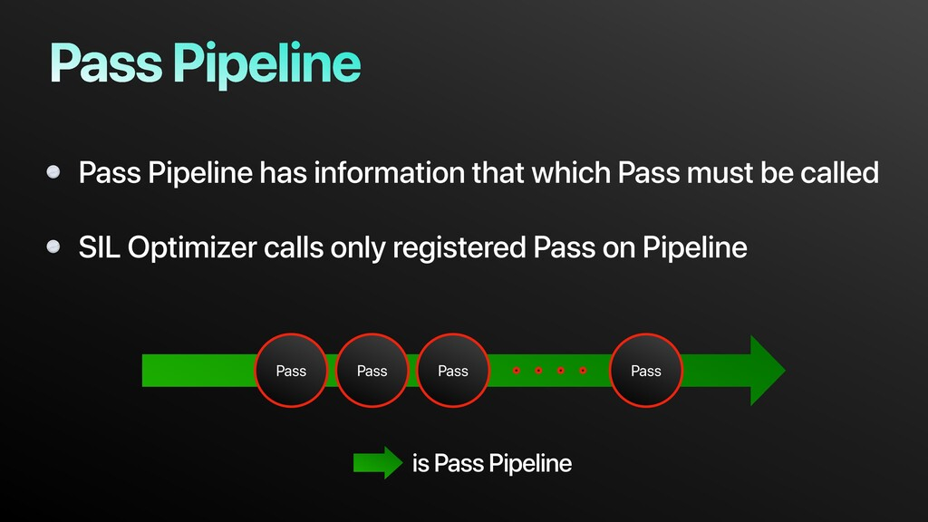 Pass Pipeline has information that which Pass m...