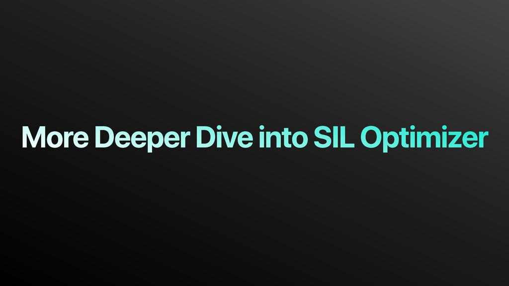 More Deeper Dive into SIL Optimizer