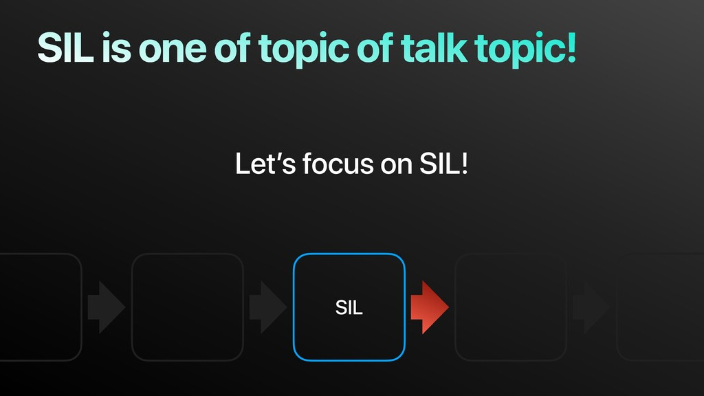 SIL SIL is one of topic of talk topic! Let's fo...