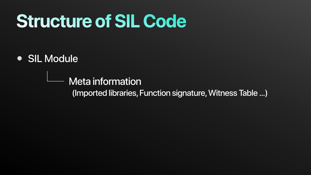 Structure of SIL Code SIL Module Meta informati...