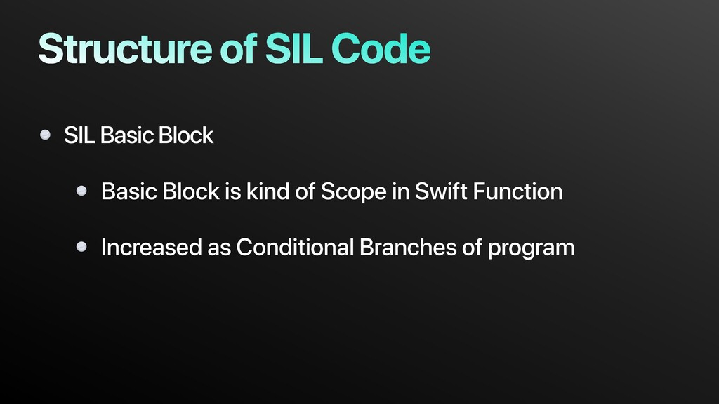 Structure of SIL Code SIL Basic Block Basic Blo...