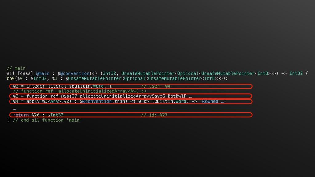 %2 = integer_literal $Builtin.Word, 1 // user: ...