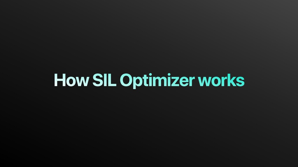 How SIL Optimizer works