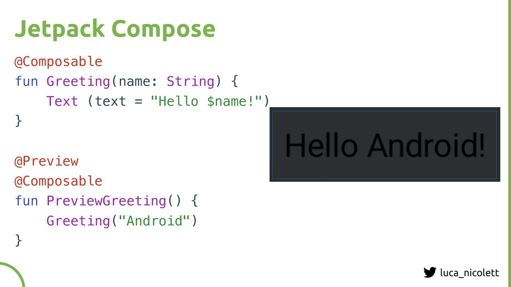 luca_nicolett Jetpack Compose @Composable fun G...