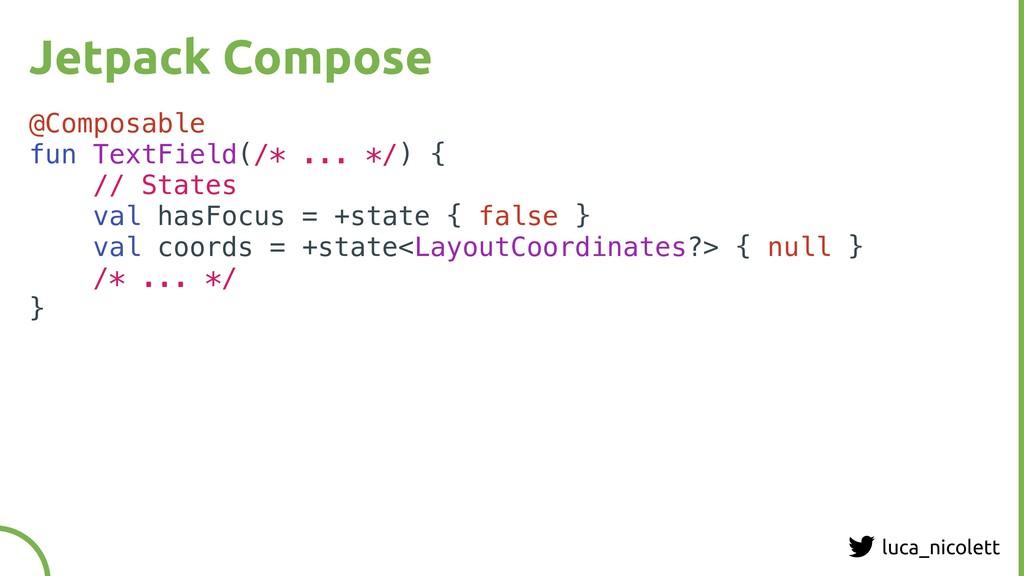 luca_nicolett Jetpack Compose @Composable fun T...