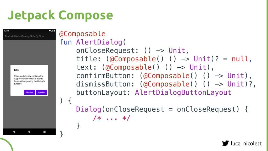 luca_nicolett Jetpack Compose @Composable fun A...