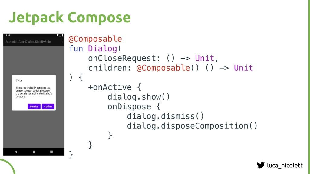 luca_nicolett Jetpack Compose @Composable fun D...