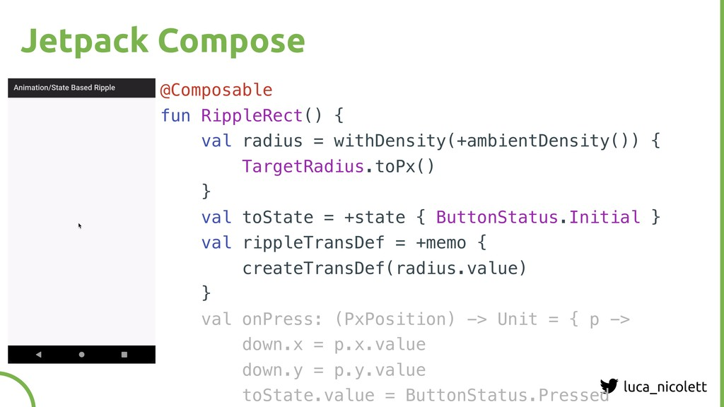 luca_nicolett Jetpack Compose @Composable fun R...
