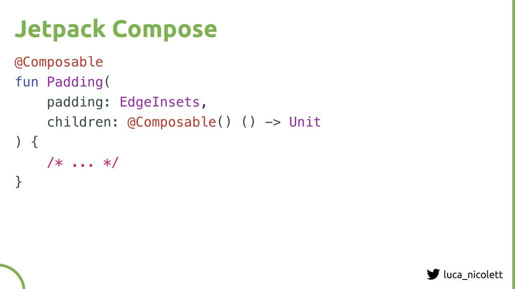 luca_nicolett Jetpack Compose @Composable fun P...
