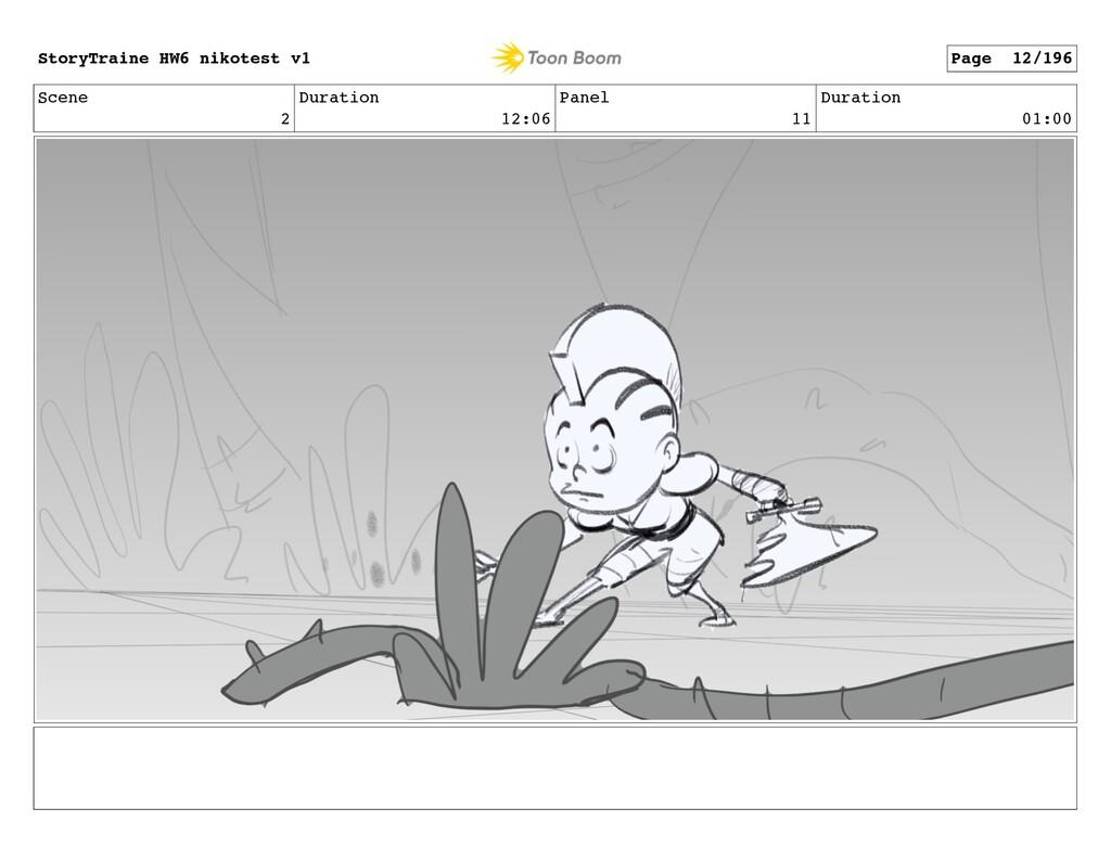 Scene 2 Duration 12:06 Panel 11 Duration 01:00 ...