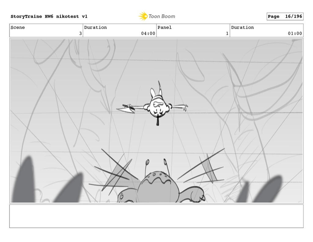 Scene 3 Duration 04:00 Panel 1 Duration 01:00 S...
