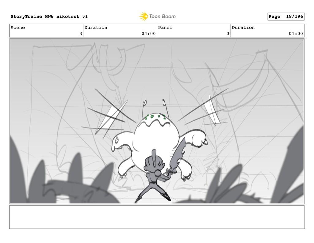 Scene 3 Duration 04:00 Panel 3 Duration 01:00 S...