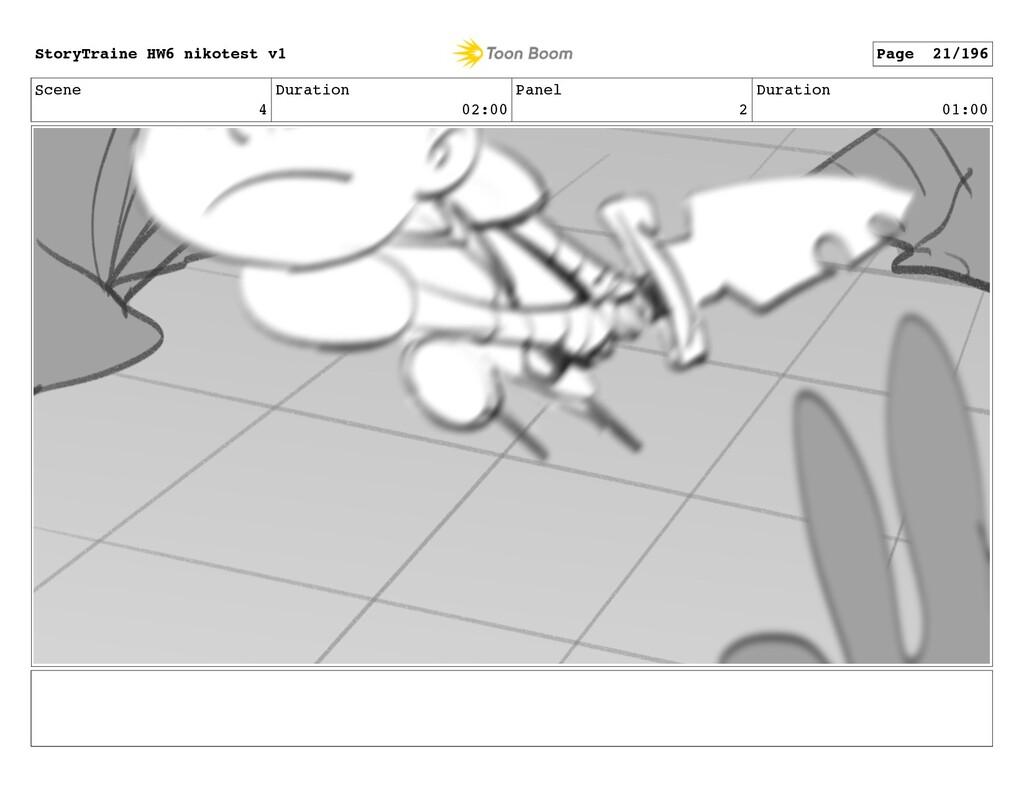Scene 4 Duration 02:00 Panel 2 Duration 01:00 S...