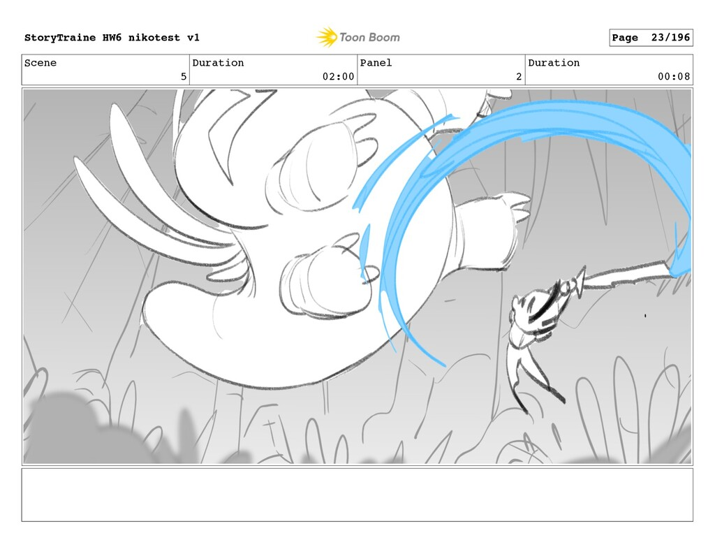 Scene 5 Duration 02:00 Panel 2 Duration 00:08 S...
