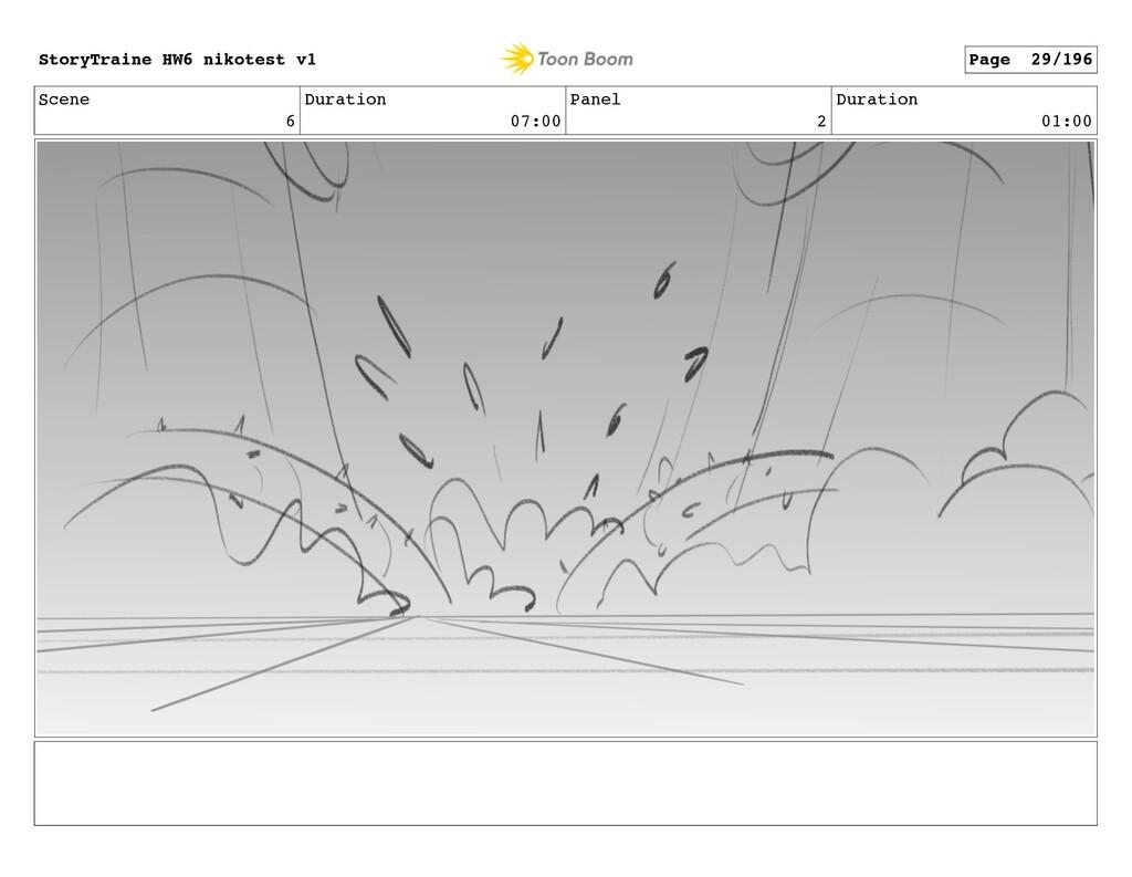 Scene 6 Duration 07:00 Panel 2 Duration 01:00 S...