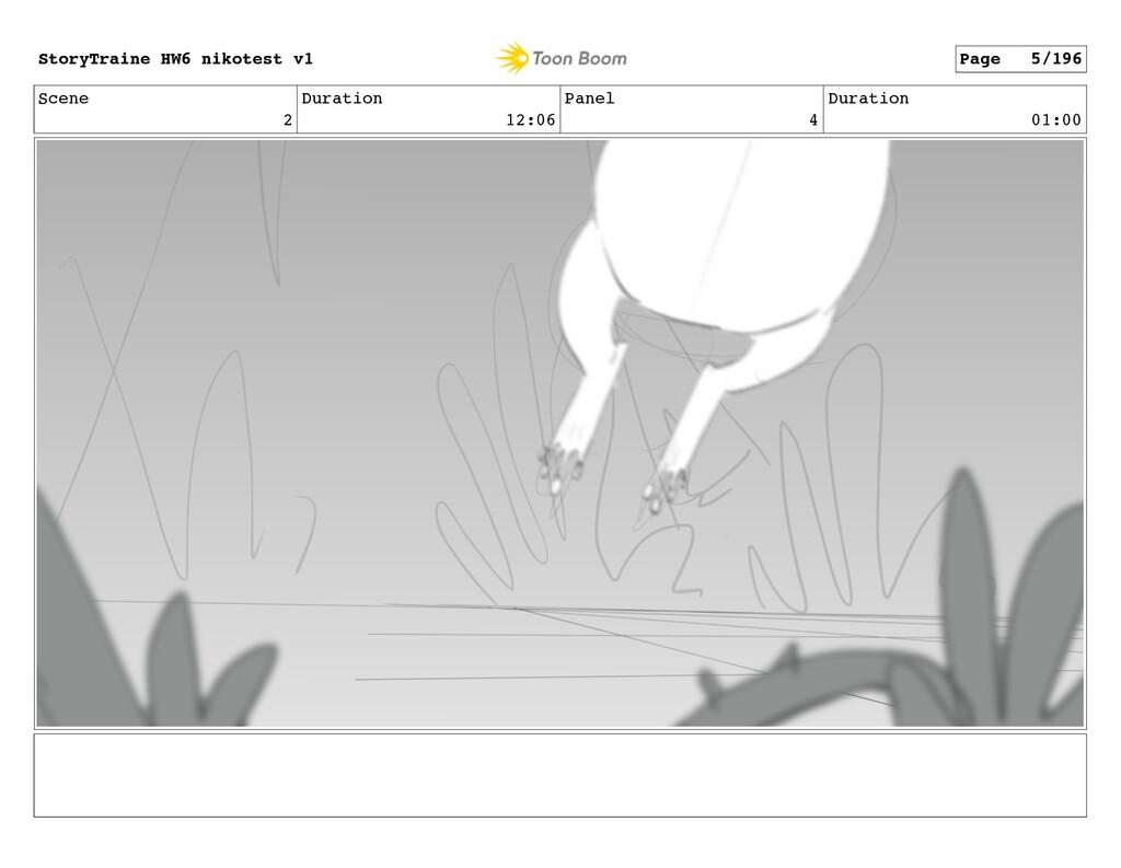 Scene 2 Duration 12:06 Panel 4 Duration 01:00 S...