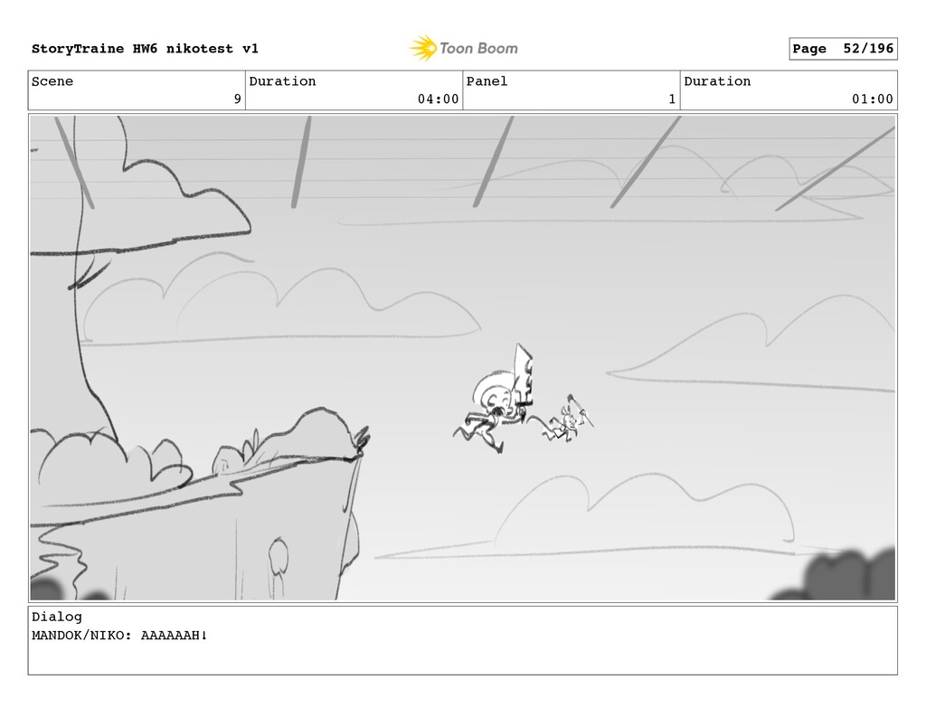 Scene 9 Duration 04:00 Panel 1 Duration 01:00 D...