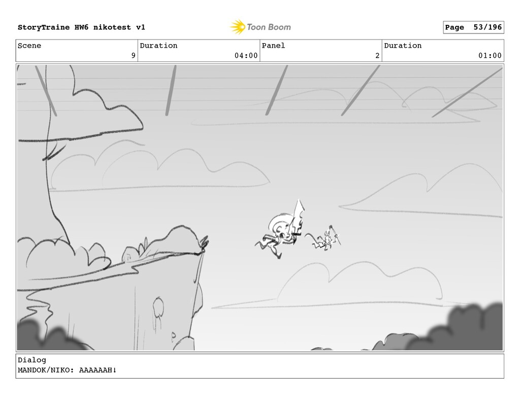 Scene 9 Duration 04:00 Panel 2 Duration 01:00 D...