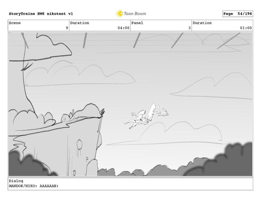 Scene 9 Duration 04:00 Panel 3 Duration 01:00 D...