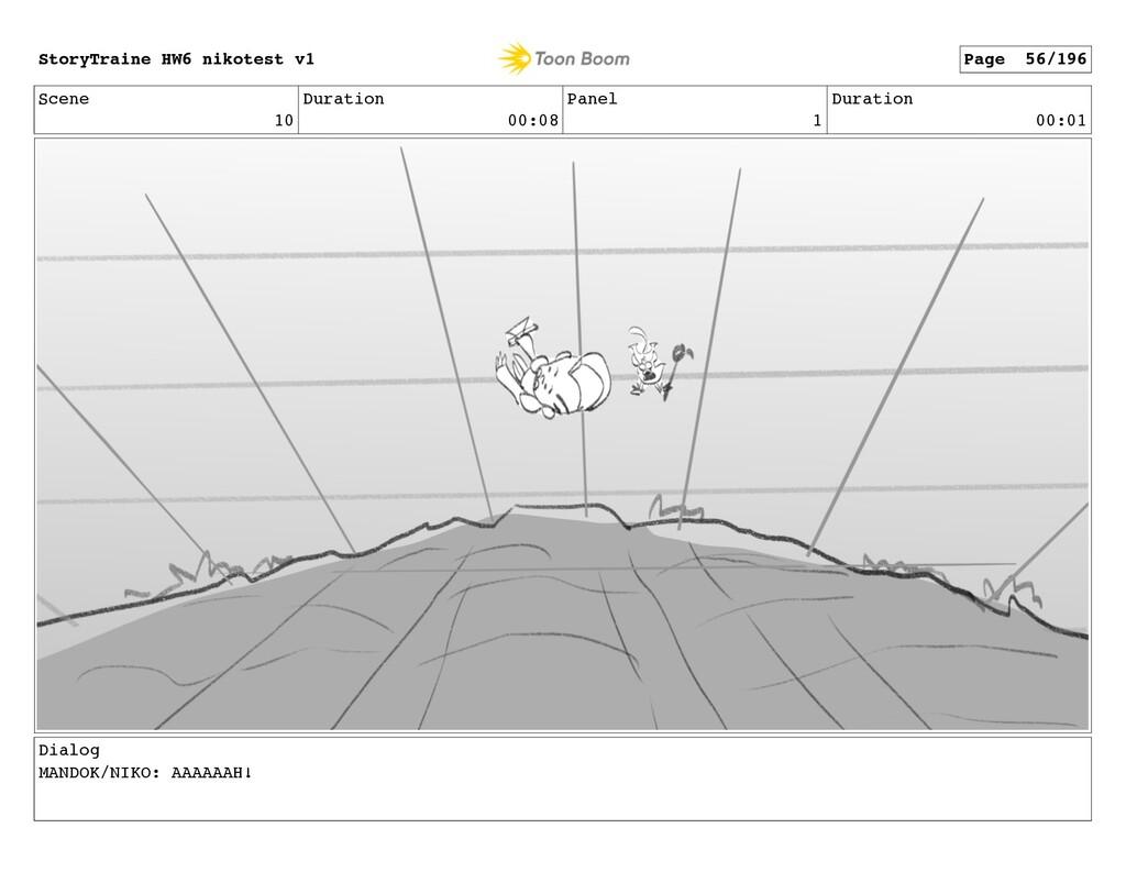Scene 10 Duration 00:08 Panel 1 Duration 00:01 ...
