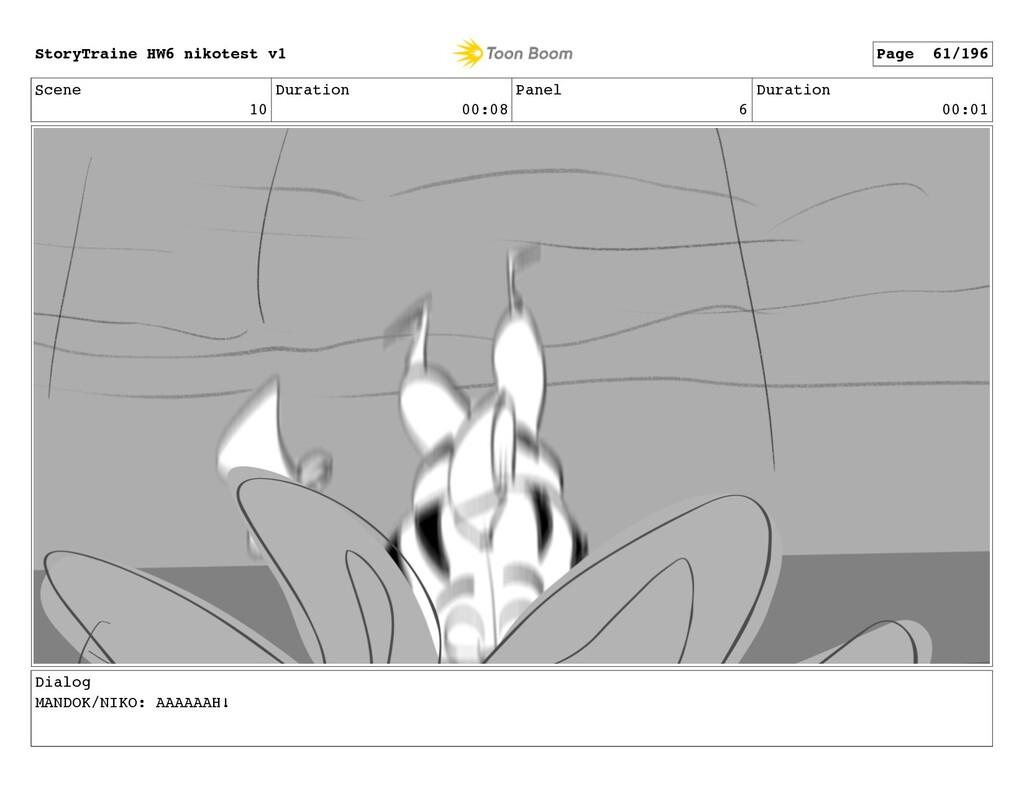 Scene 10 Duration 00:08 Panel 6 Duration 00:01 ...
