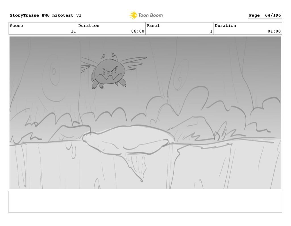 Scene 11 Duration 06:00 Panel 1 Duration 01:00 ...