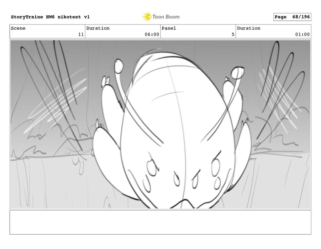 Scene 11 Duration 06:00 Panel 5 Duration 01:00 ...