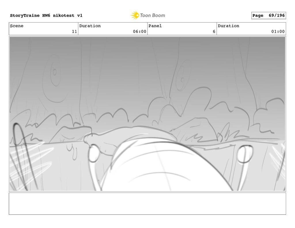 Scene 11 Duration 06:00 Panel 6 Duration 01:00 ...