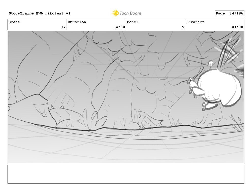Scene 12 Duration 14:00 Panel 5 Duration 01:00 ...